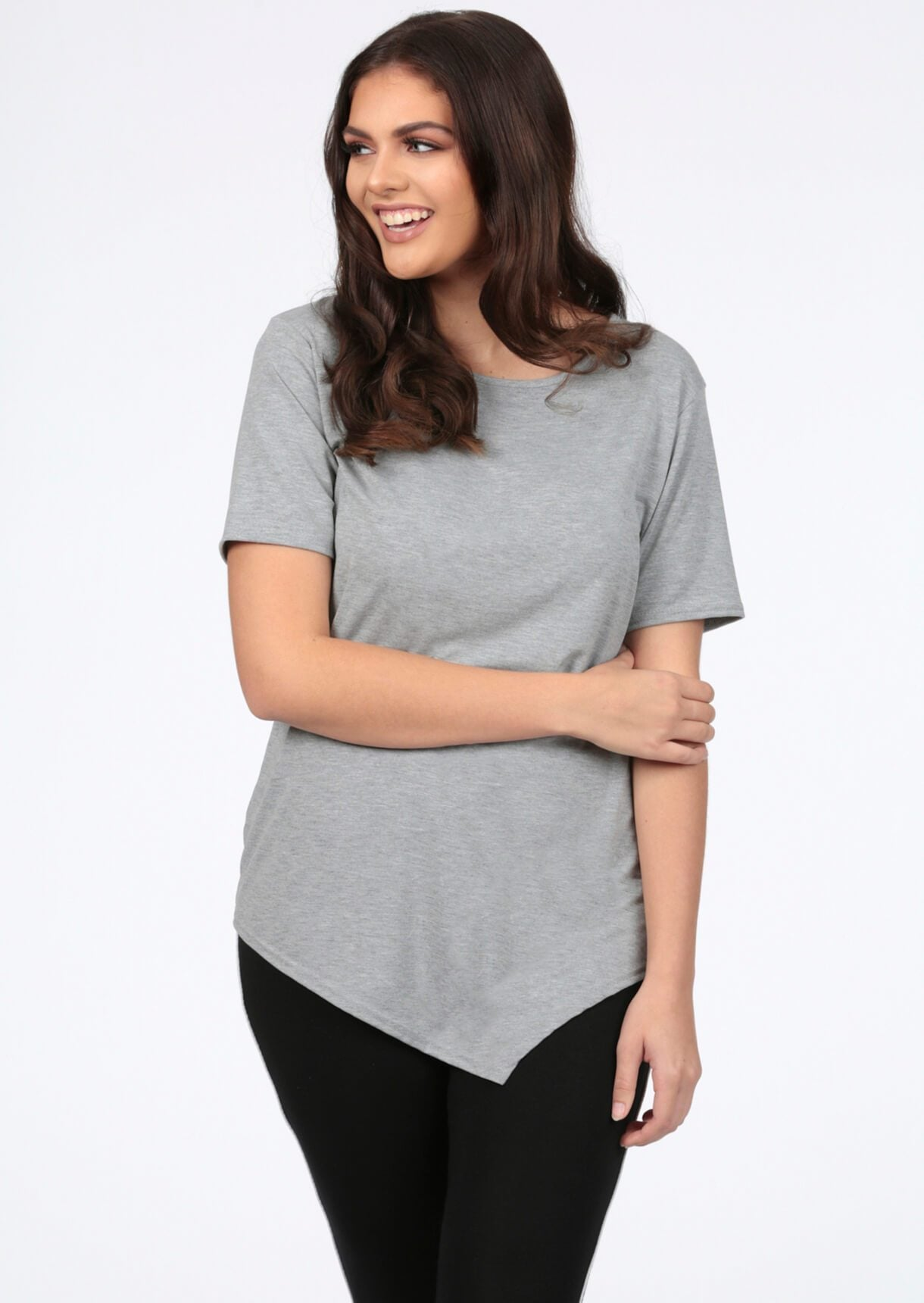 Basic Short Sleeve Grey T-Shirt