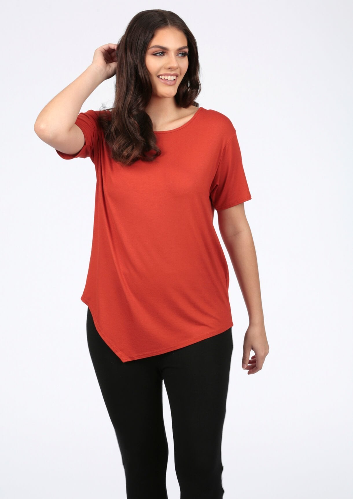 Basic Short Sleeve Rust T-Shirt