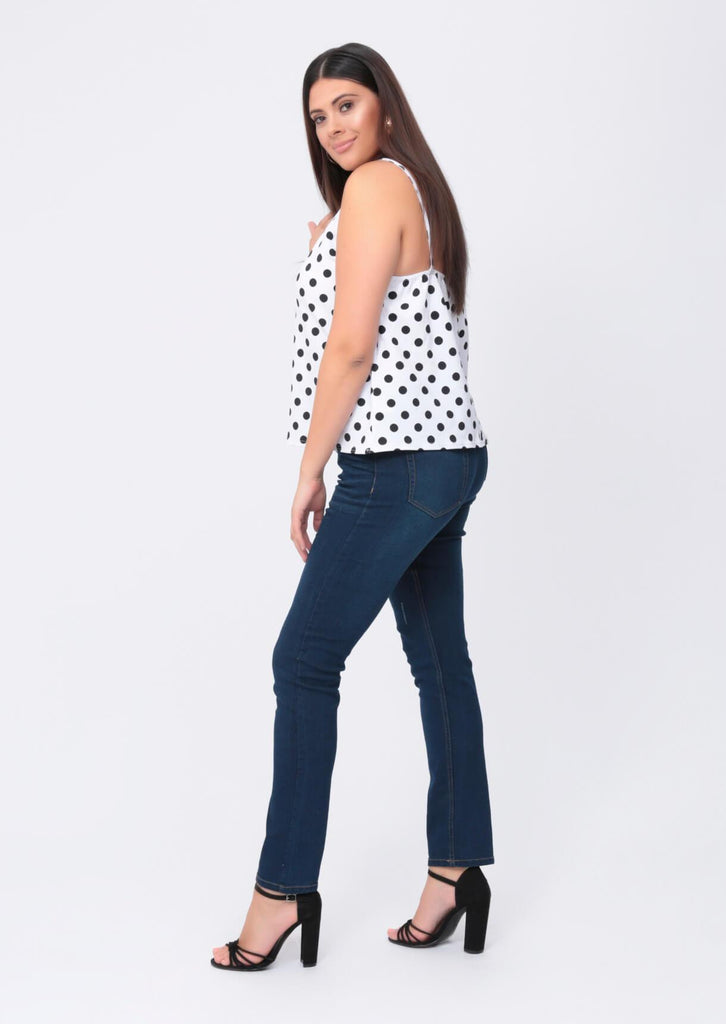 Plus Size Blue Stretch Skinny Distressed Jeans view 2