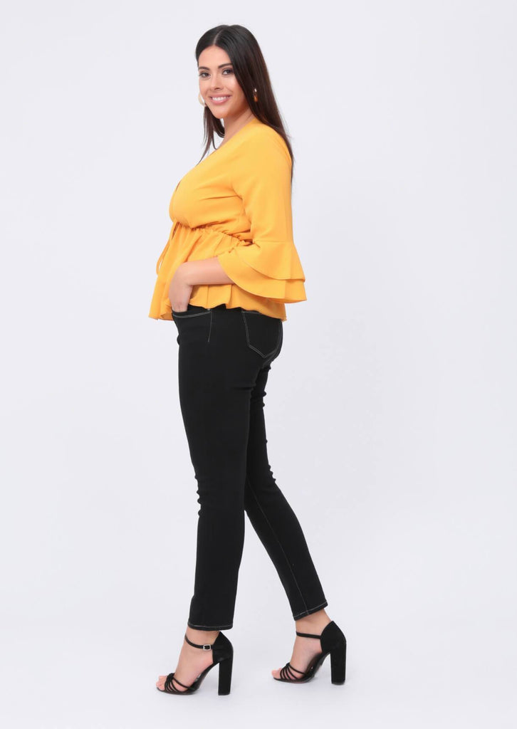 Plus Carissa Black Slim Leg Jeans