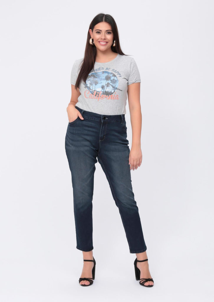 Plus Size Stretch Skinny Dark Wash Blue Jeans