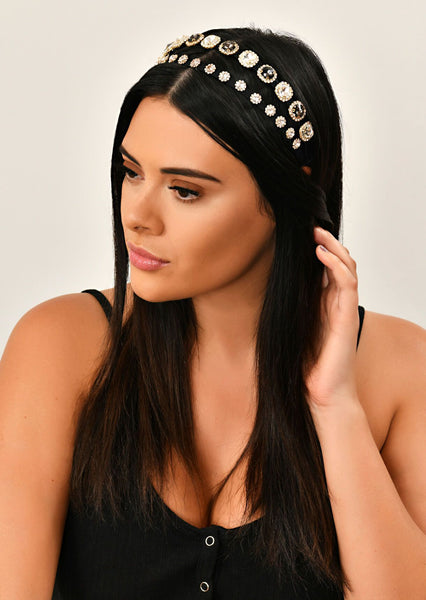 Gold Embellished Head Band 1
