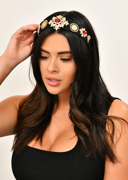 Black Embellished Head Band 1