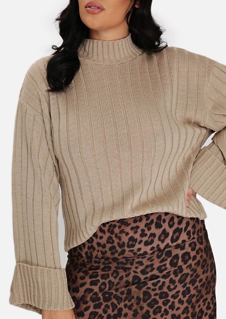 Pink Clove Stone Wide Cuff Wide Sleeve Jumper view 5