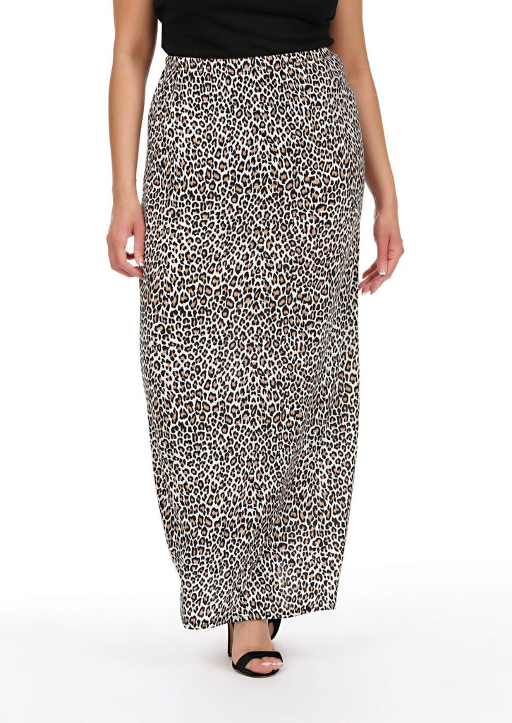 Black Leopard Maxi Skirt 4 view 4