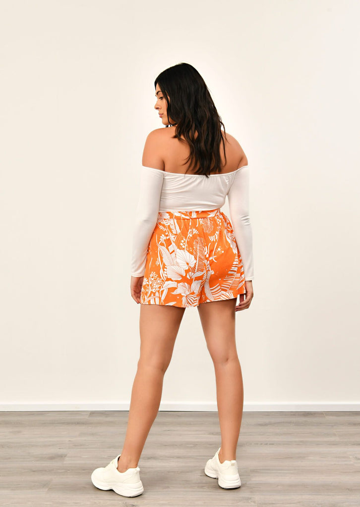 Pink Clove Orange Flippy Shorts view 5
