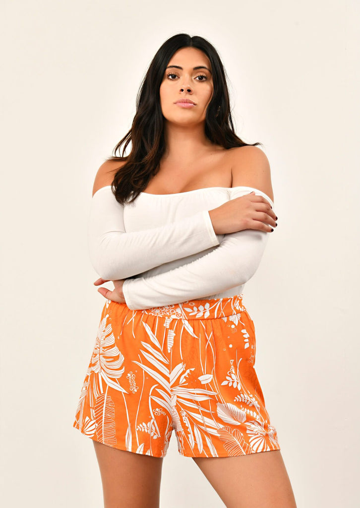 Pink Clove Orange Flippy Shorts