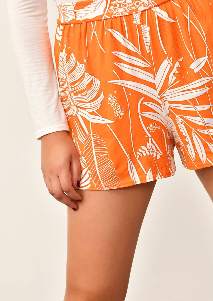 Pink Clove Orange Flippy Shorts view 2