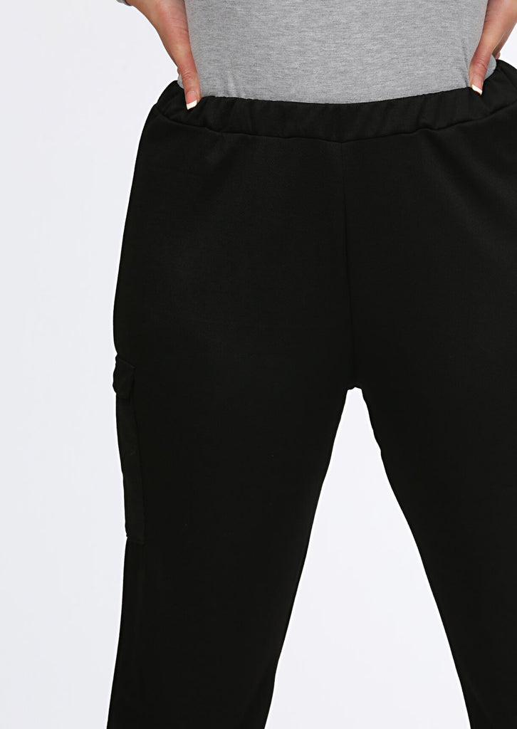 Pink Clove Black Trouser Joggers view 5