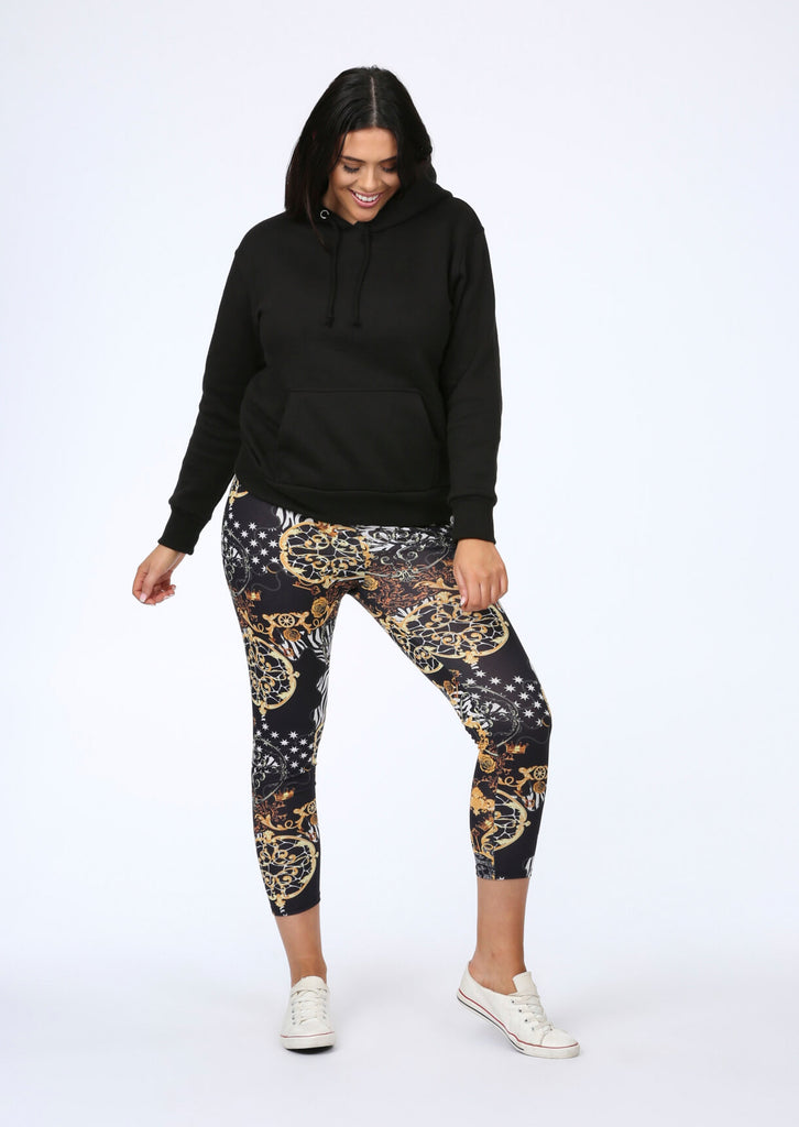 Plus Size Lux Leggings in Multi Print view main view