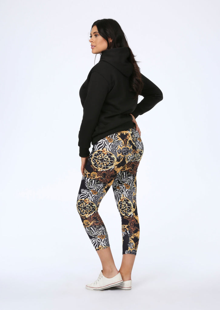 Lux Leggings in Multi Print view 4