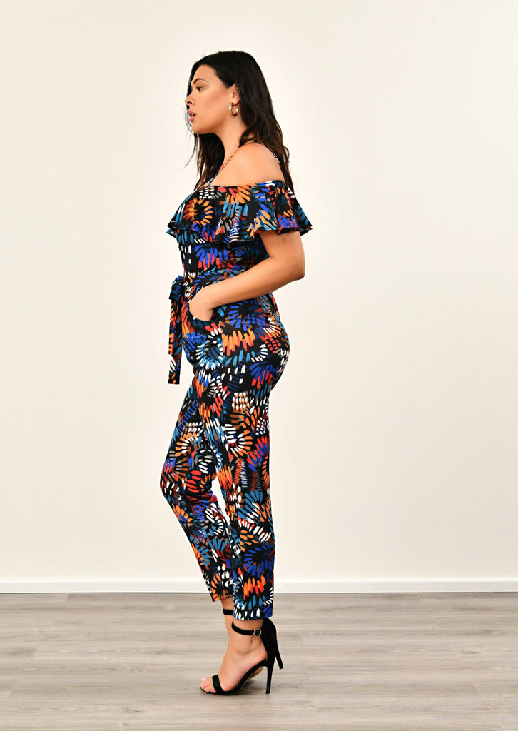 Multi Frill Shoulder Jumpsuit 3 view 3