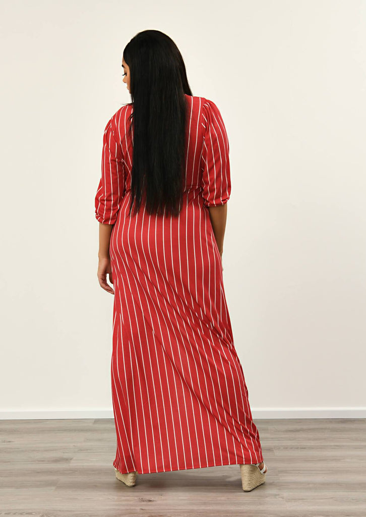 Red Front Maxi Dress 5 view 5