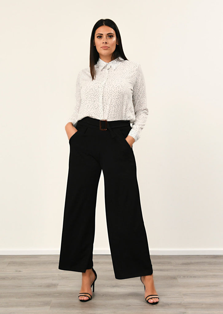 Pink Clove Black Buckle Trouser view main view