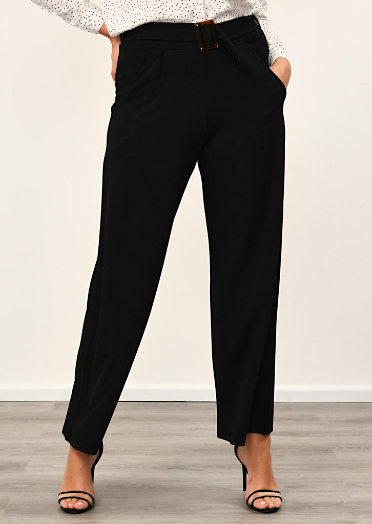 Pink Clove Black Buckle Trouser view 4