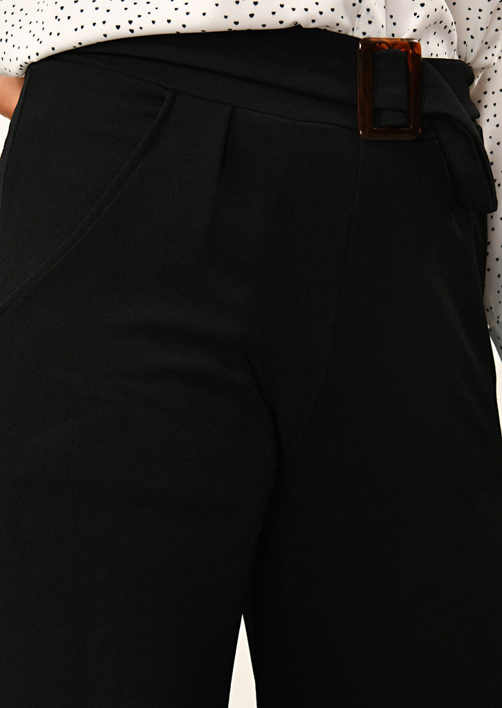Pink Clove Black Buckle Trouser view 5