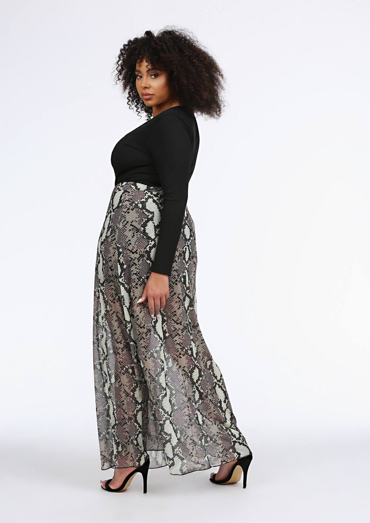 Multi Snake Print Maxi Skirt 2 view 2
