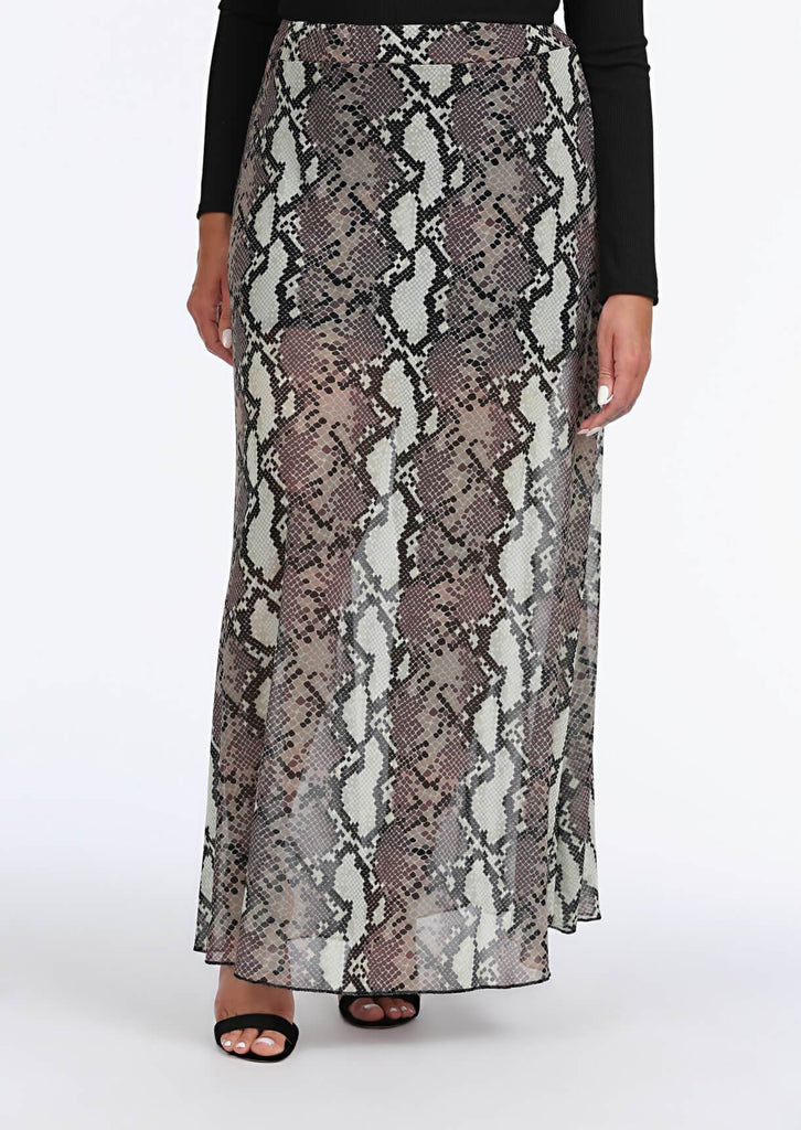 Multi Snake Print Maxi Skirt 4 view 4
