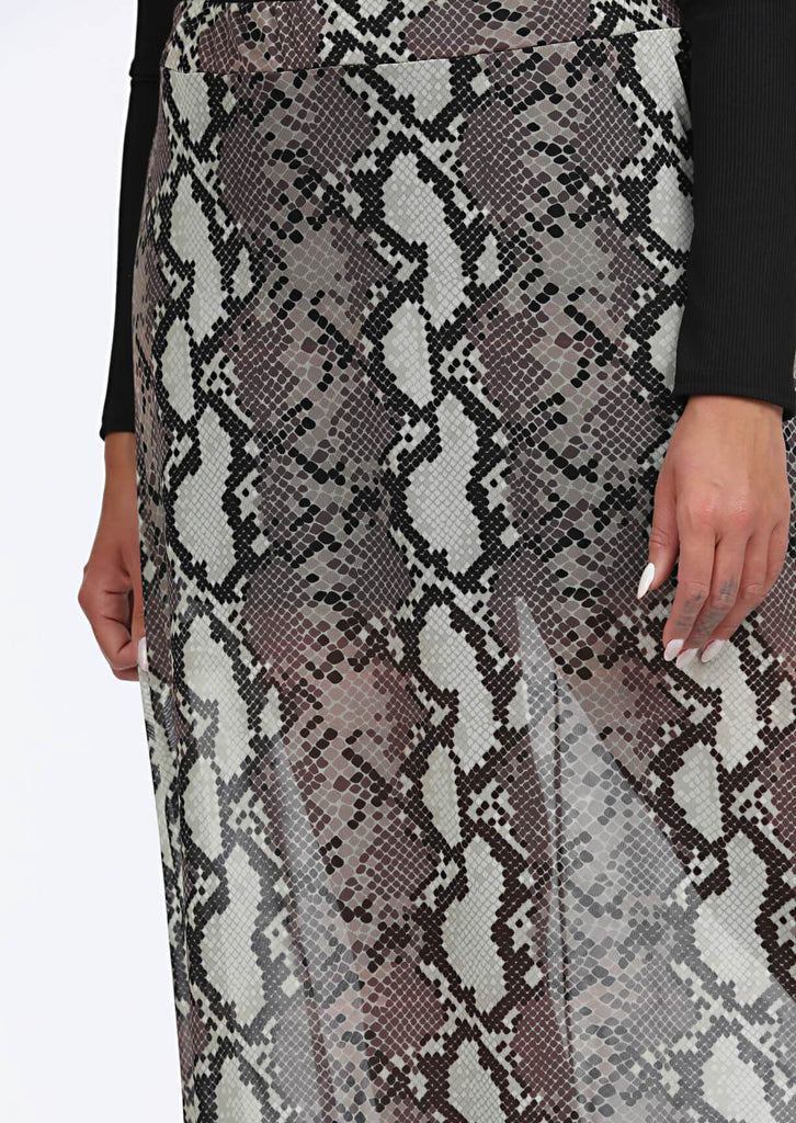 Multi Snake Print Maxi Skirt 5 view 5