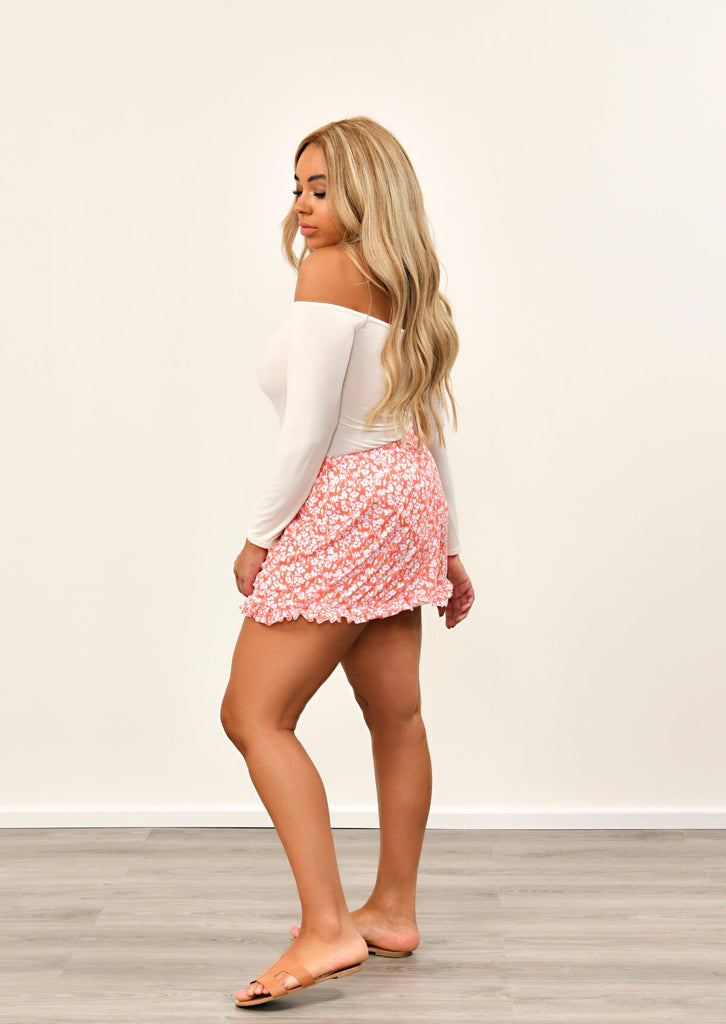 Coral Multi Ruffle Shorts 4 view 4
