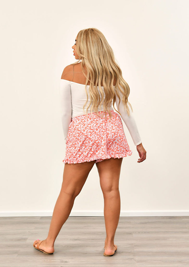 Coral Multi Ruffle Shorts 5 view 5