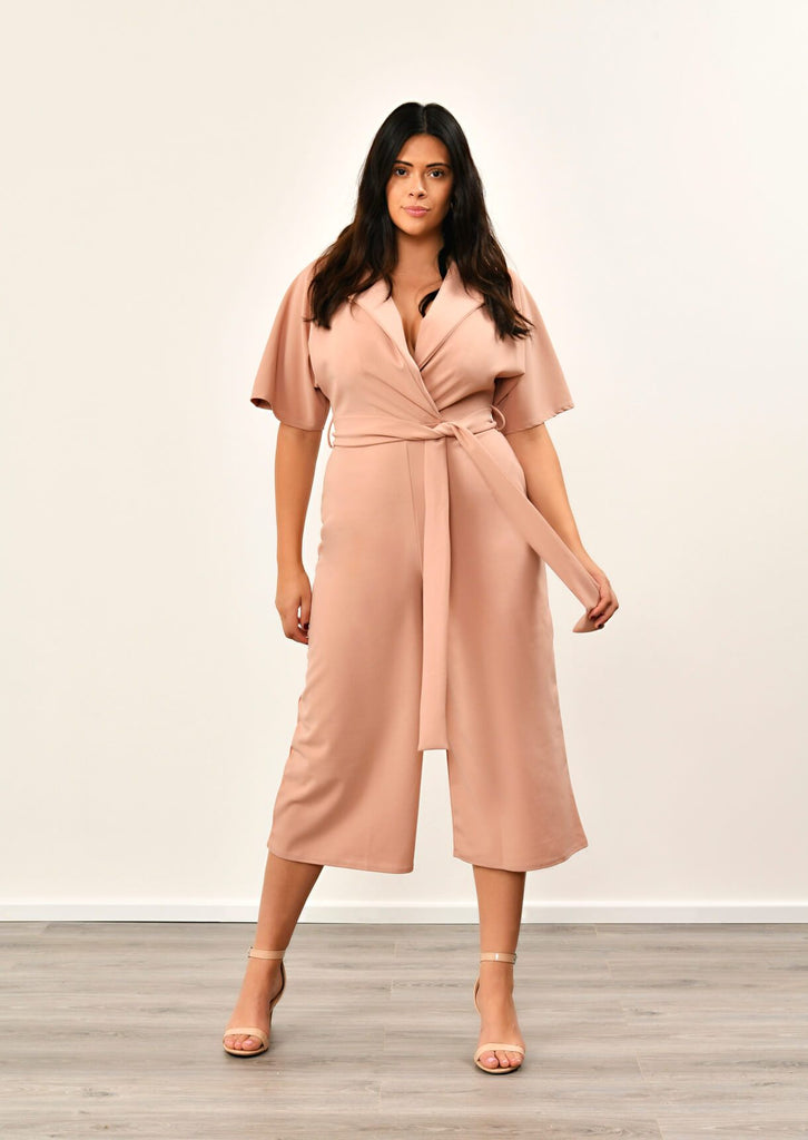 Rose Utility Culotte Jumpsuit 1 view main view