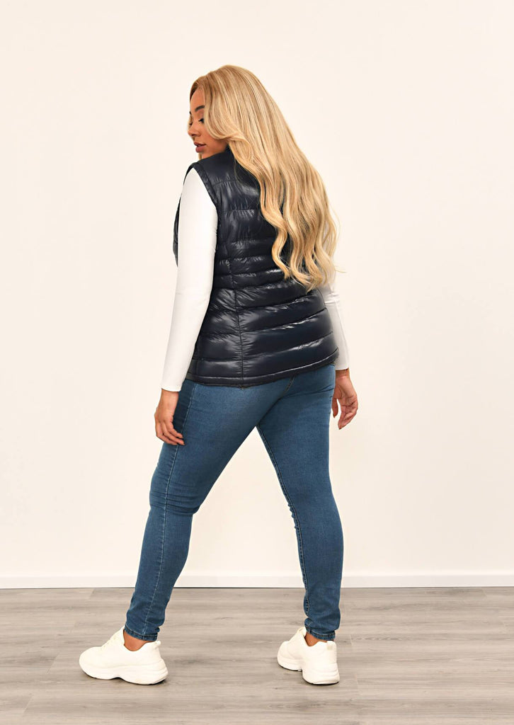 Navy Padded Gilet 3 view 2