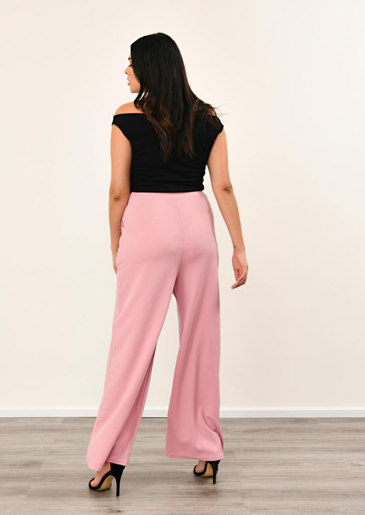 Rose 3 Button Wide Leg Trousers 3 view 3