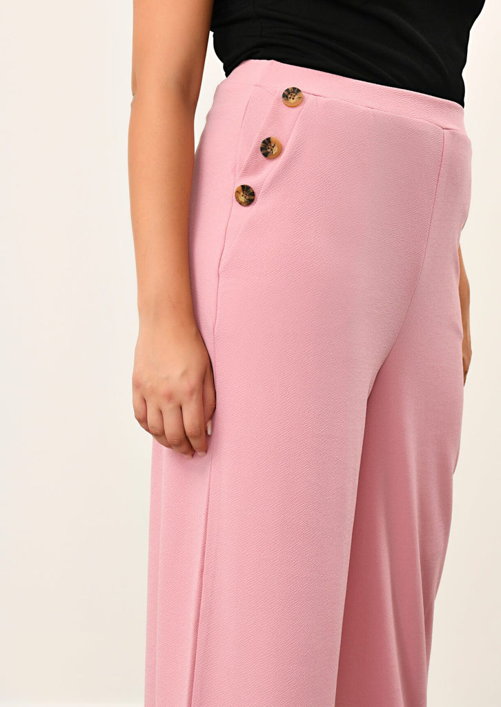 Pink Clove Rose 3 Button Wide Leg Trousers view 5