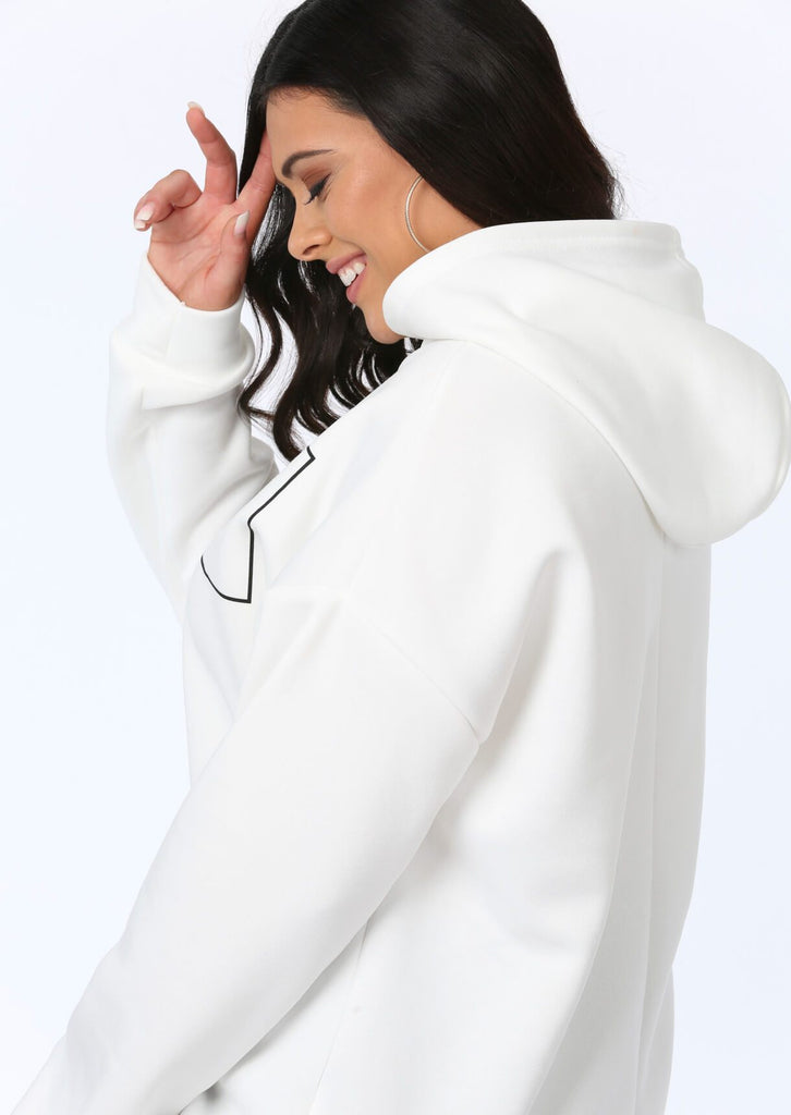 Plus Size Barcelona Oversized Hooded Sweat view 3