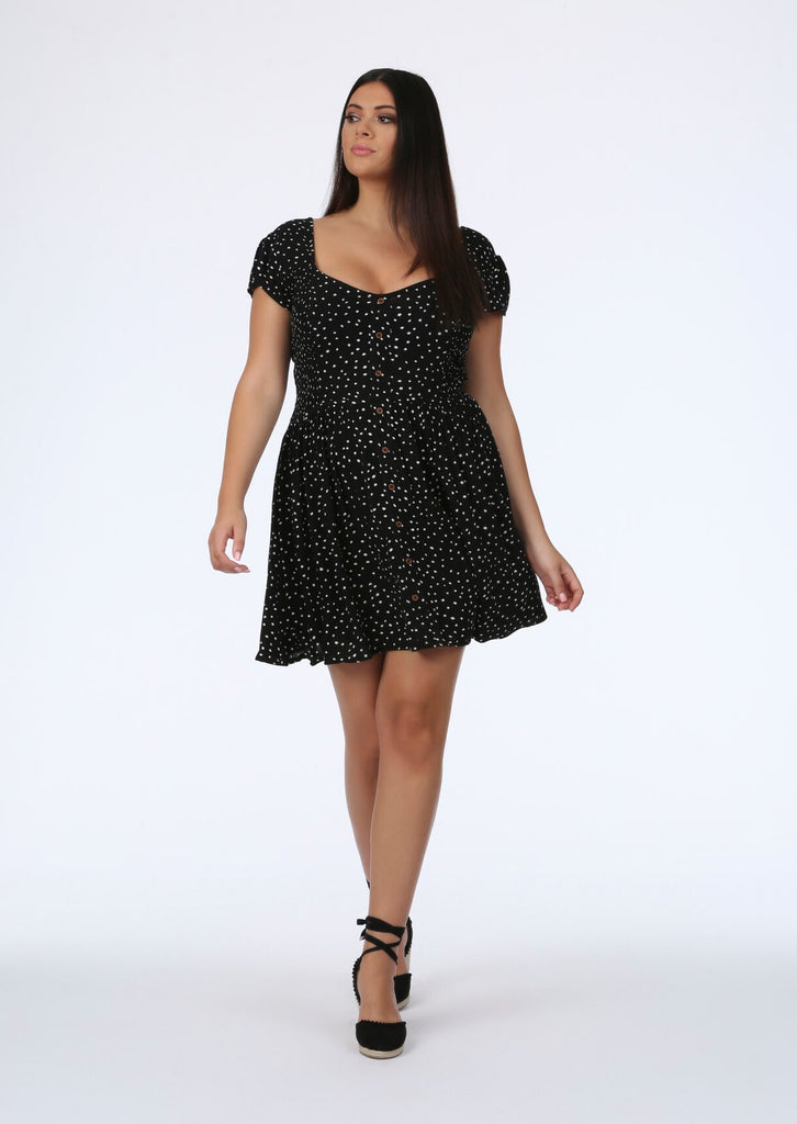 Black Spot Midi Dress 2 view 2
