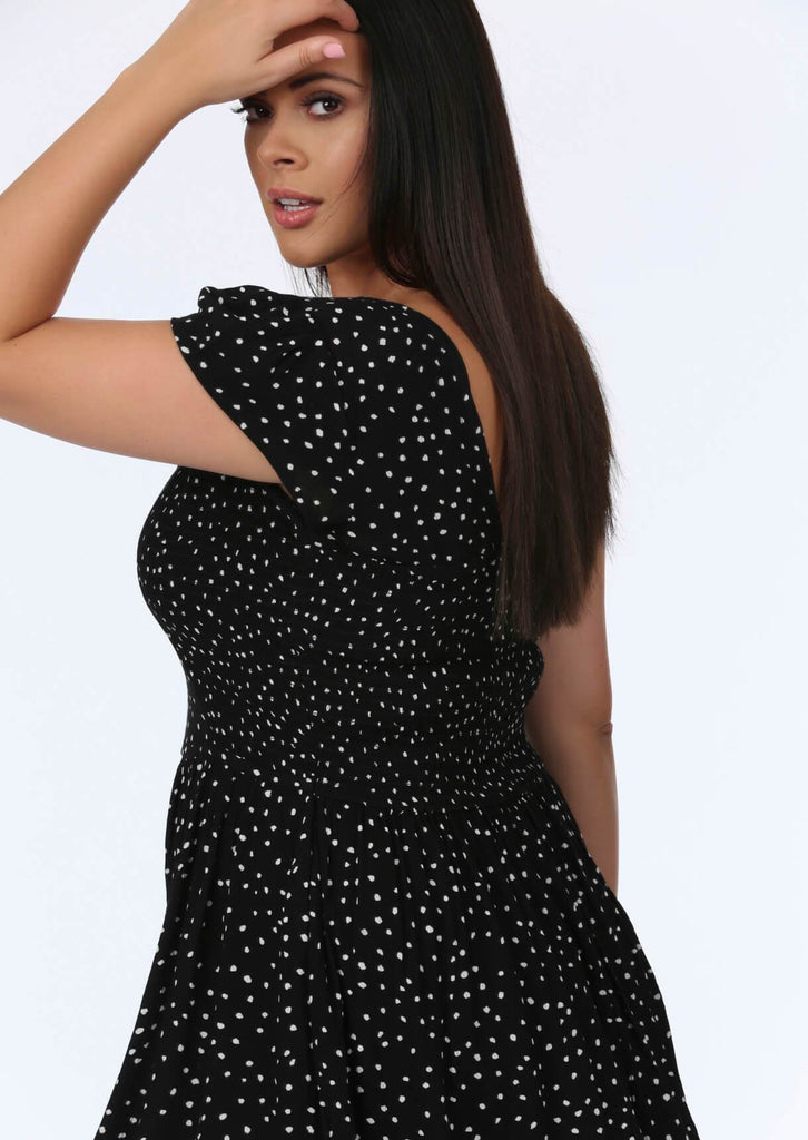 Black Spot Midi Dress 3 view 3