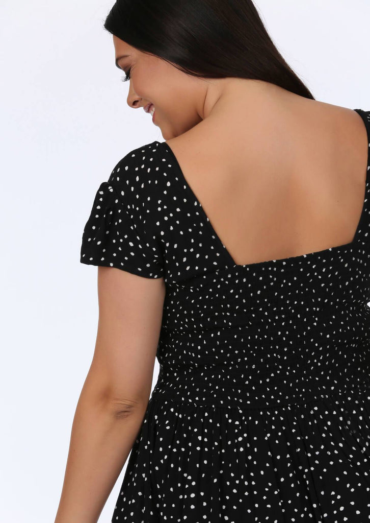 Black Spot Midi Dress 4 view 4