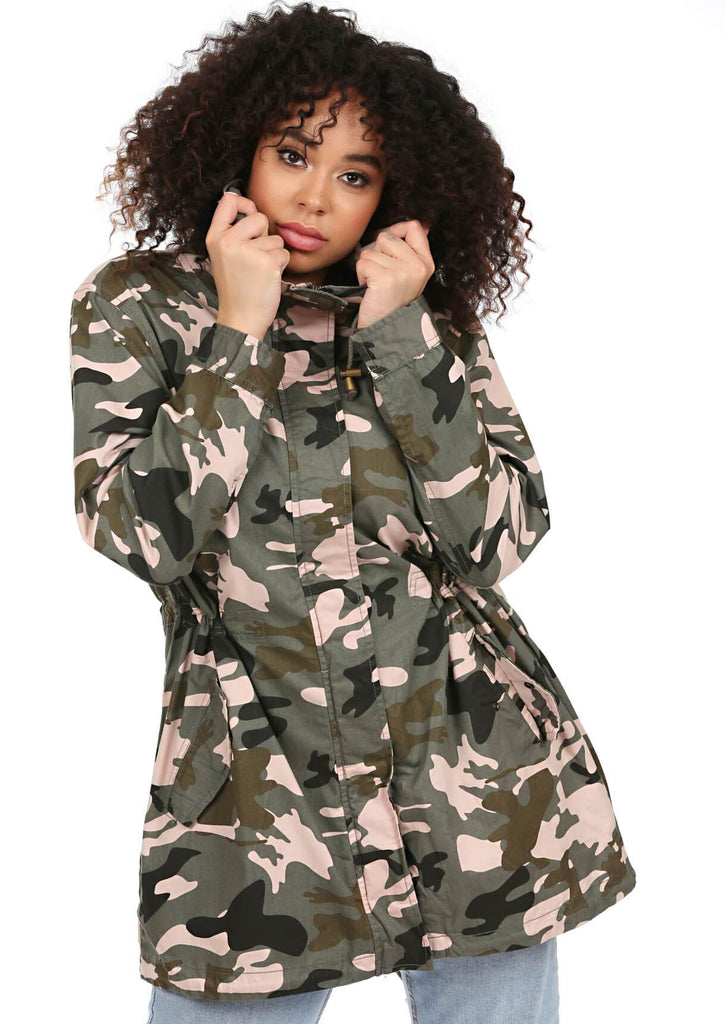 Green Camo Hooded Parka 1
