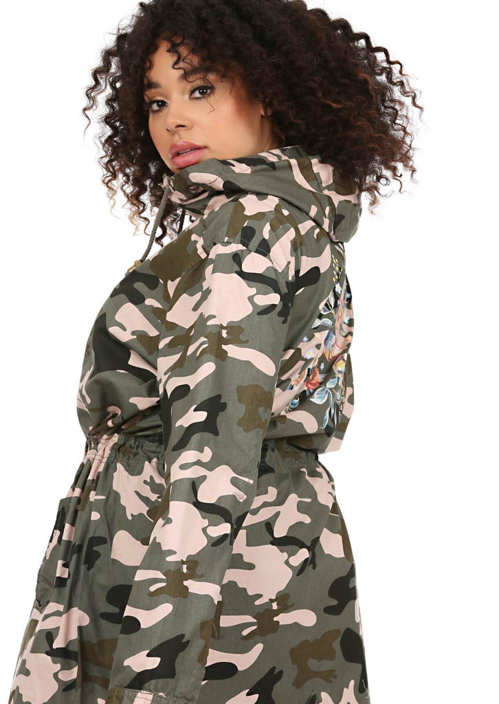 Green Camo Hooded Parka 3 view 3