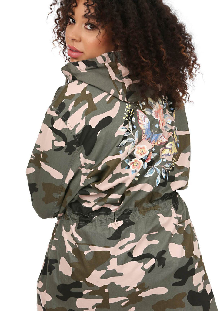 Green Camo Hooded Parka 2 view 2