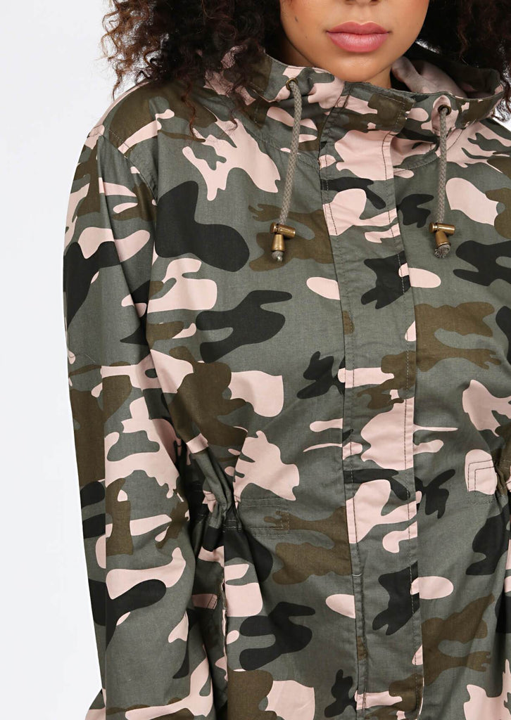 Green Camo Hooded Parka 5 view 5