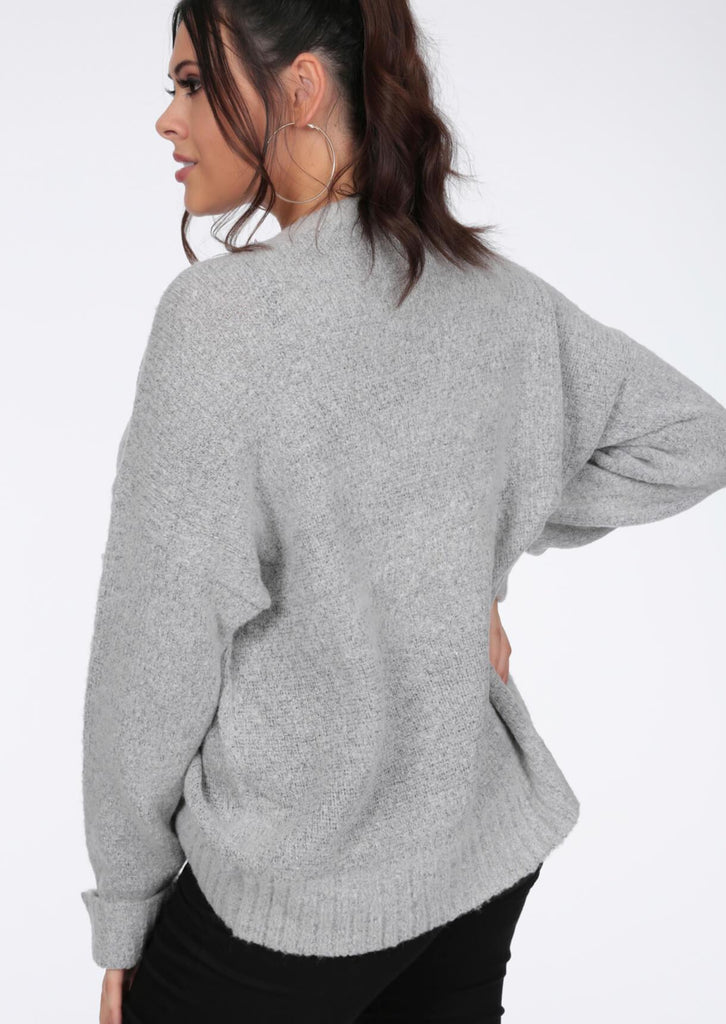 Plus Nena Supersoft Turn Up Cuff Grey Jumper view 5