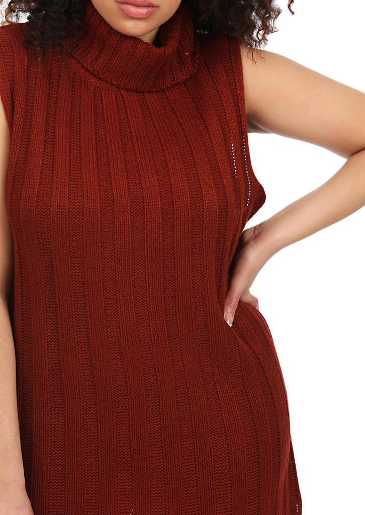 Plus Size Sleeveless Jumper Dress in Red view 5
