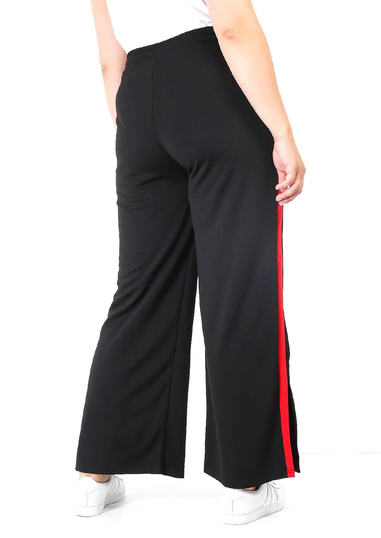 Black With Red Stripes Joggers
