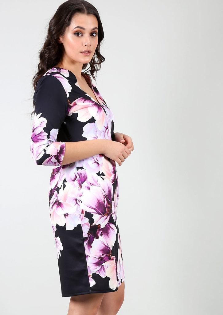 Plus Size Size Floral Bodycon Dress view 2