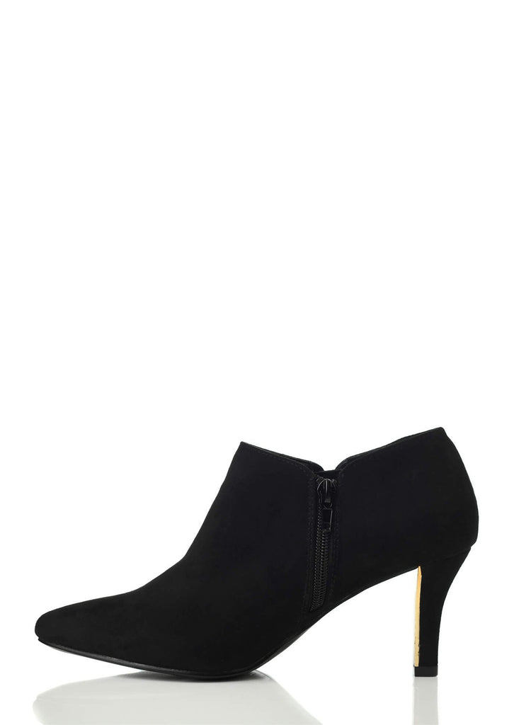 Black Wide Fit Heeled Ankle Boot 2 view 2