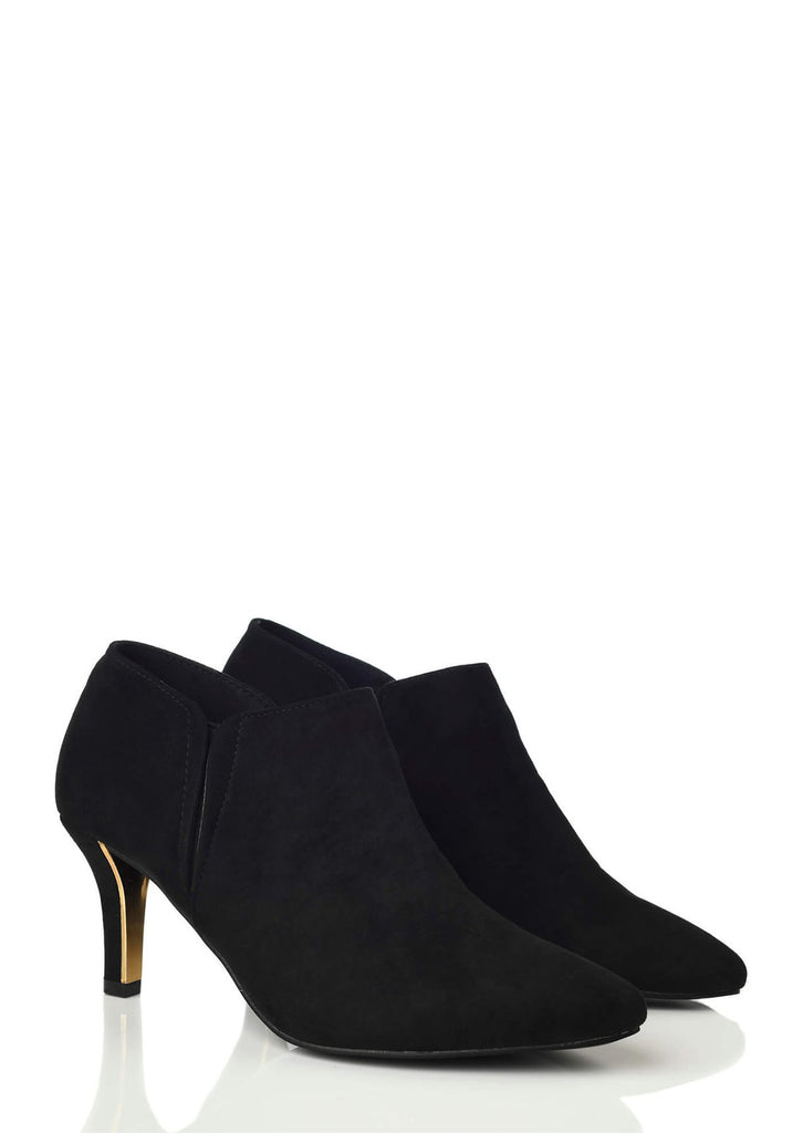 Black Wide Fit Heeled Ankle Boot 4 view 4