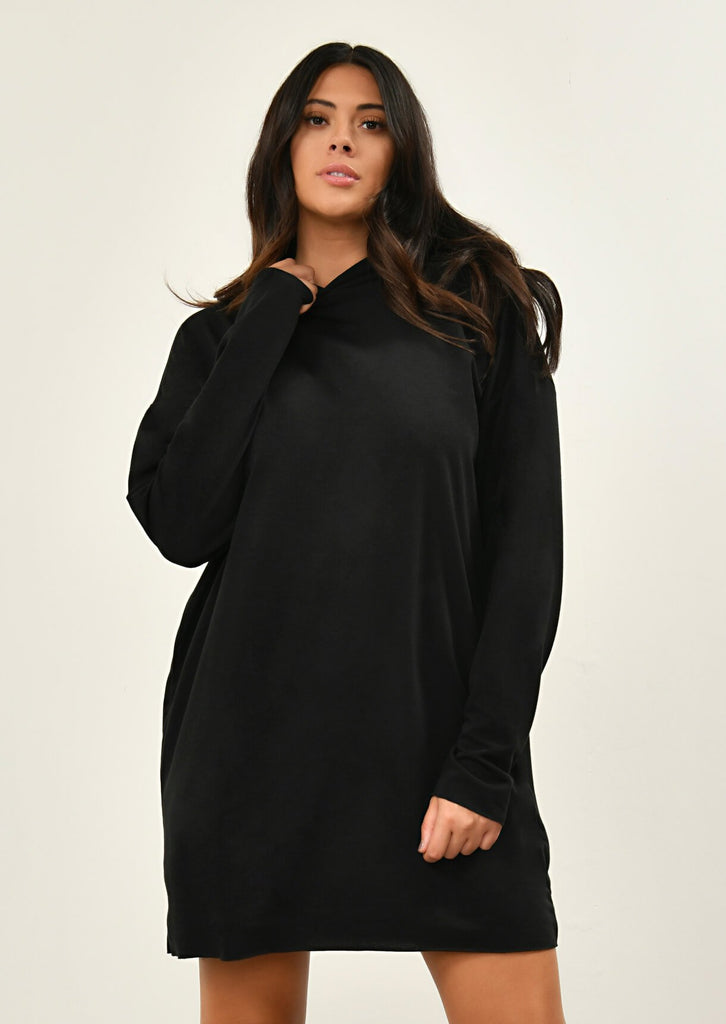 Black Hooded Dress 1