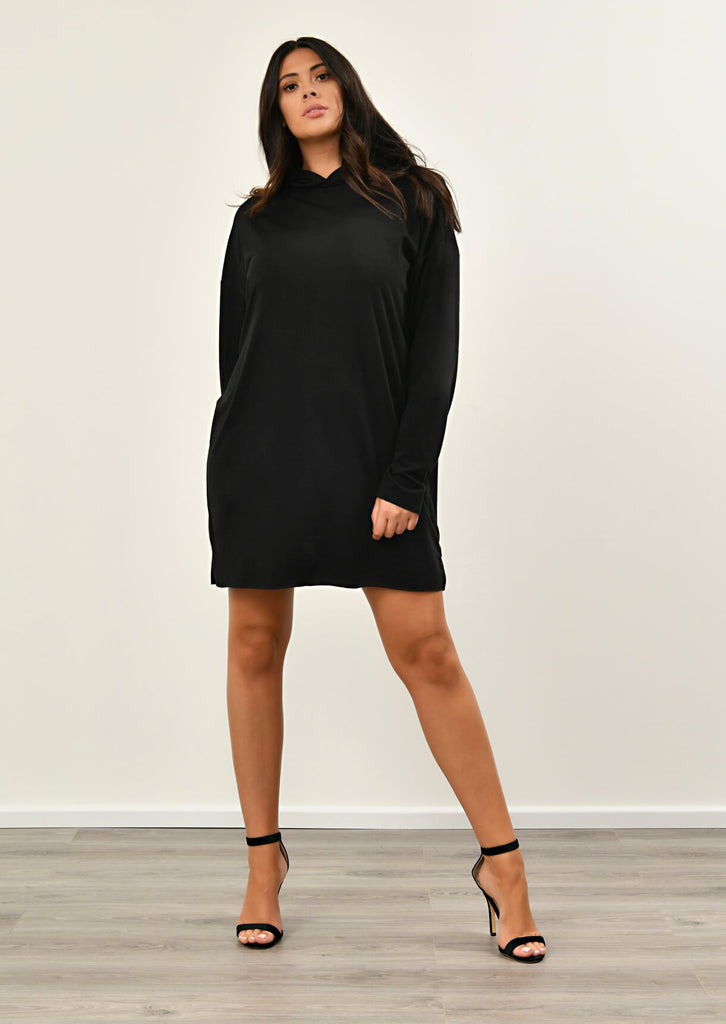 Black Hooded Dress 3 view 3