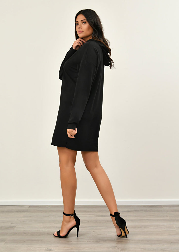 Black Hooded Dress 4 view 4