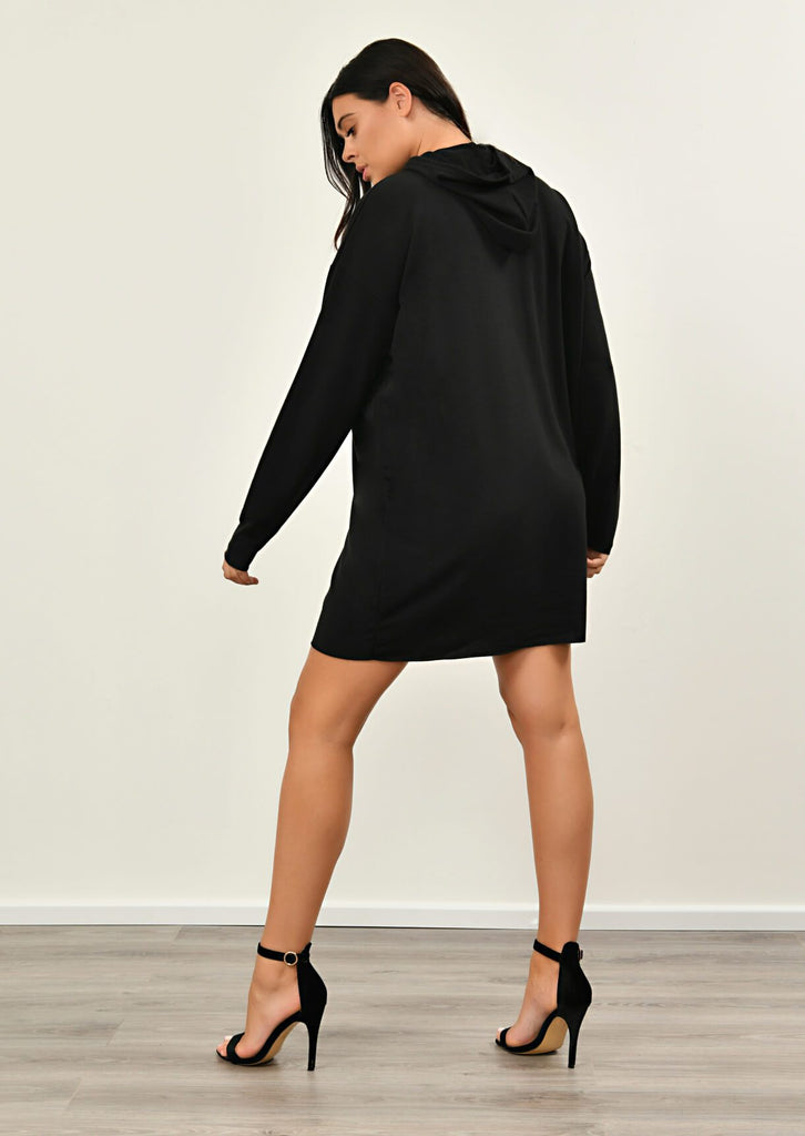 Black Hooded Dress 5 view 5