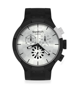 Swatch Chequered Silver SB02B404