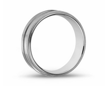 Matte & Shiny Steel Ring 7mm