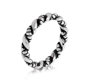 Stainless Steel Twisted Ring